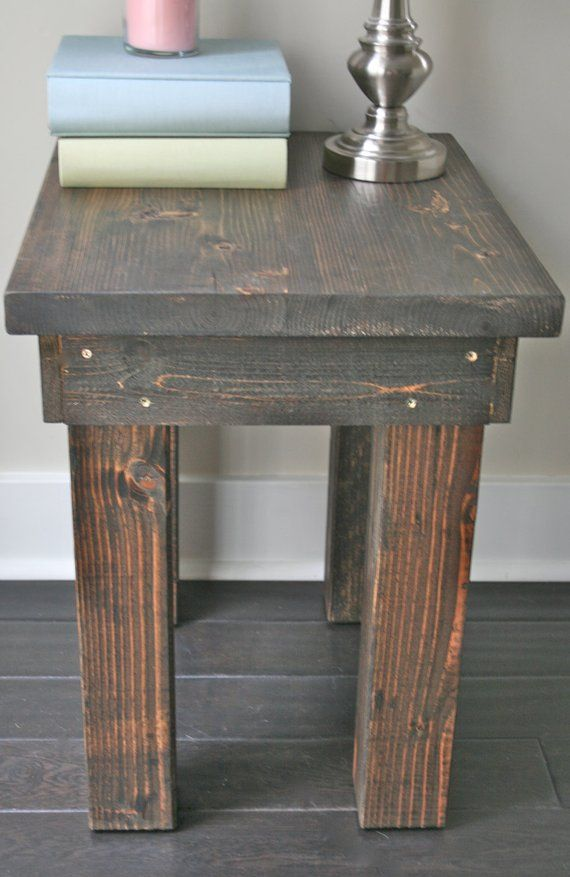 Rustic Side Table - Living Room, Bedroom Furniture, Farmhouse Side ...