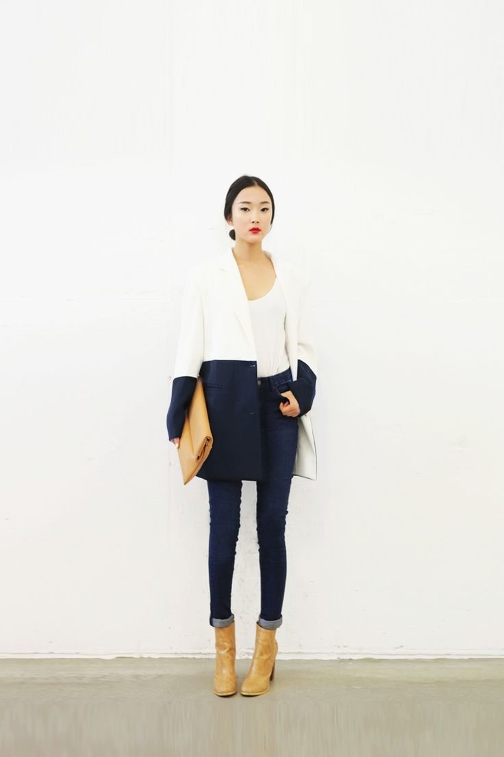 Two Toned: Navy & Tan