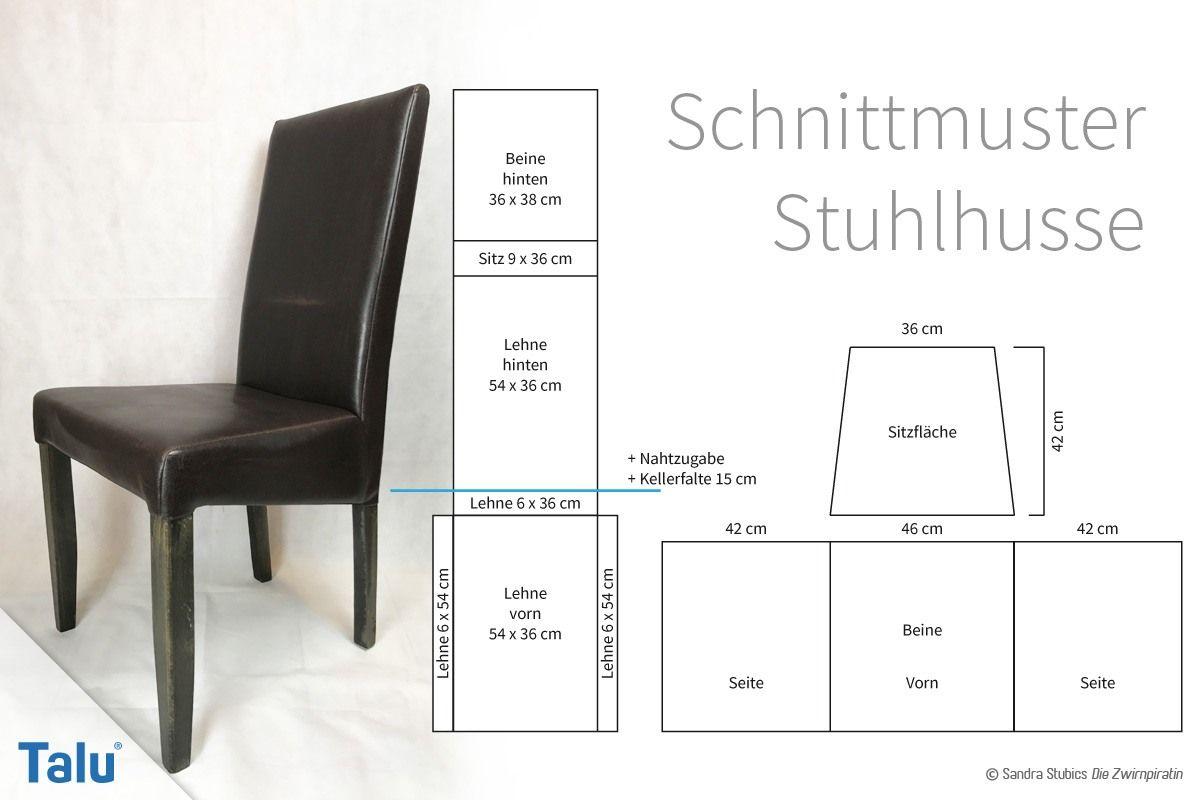 Stuhlhussen nähen – Anleitung und Schnittmuster für einen Stuhlbezug – Talu.de