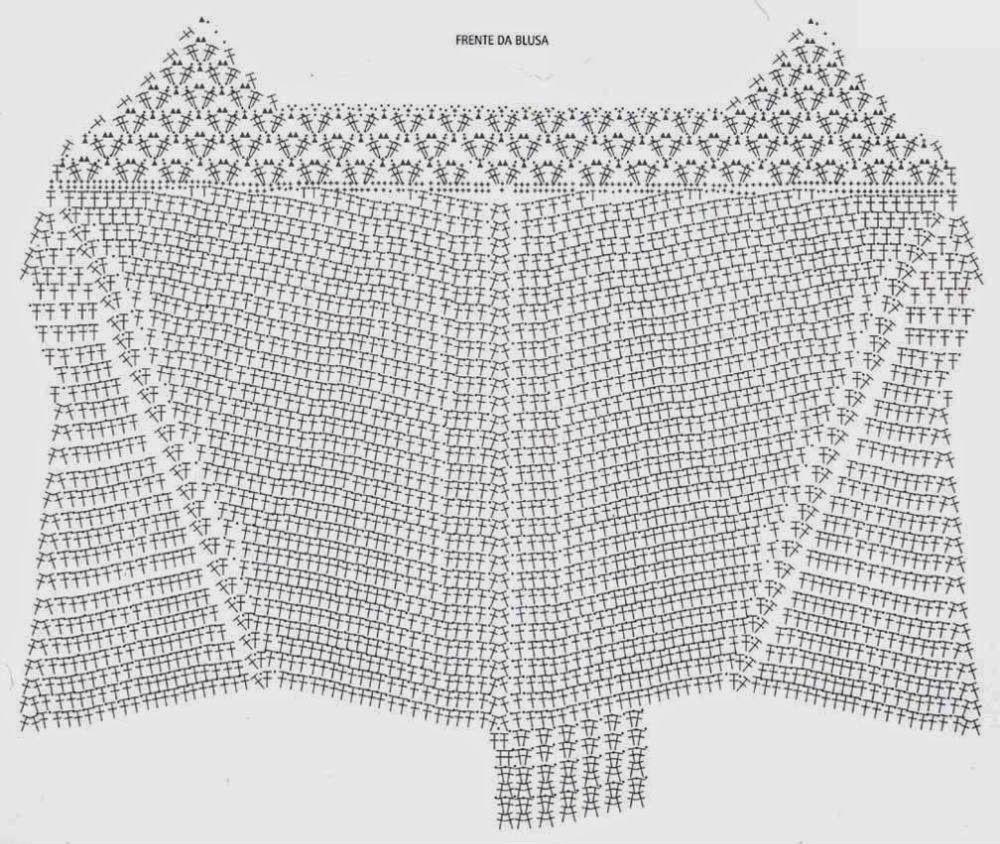 Top terminacion en pico Patron - Patrones Crochet | Horgolás, kötés ...