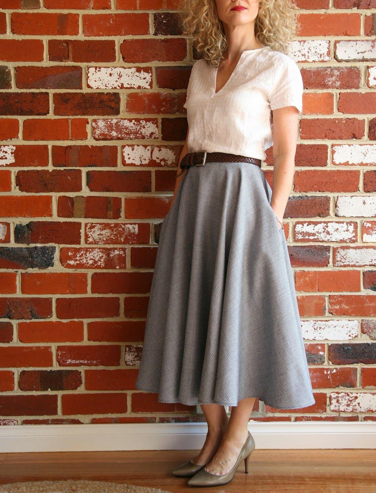 Sew Tessuti Blog - Top vintage Butterick 5111 and skirt vintage ...