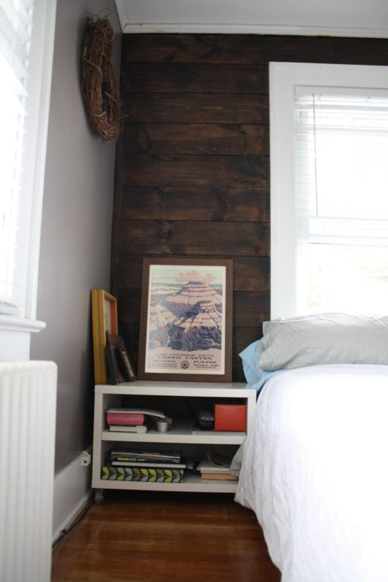 Finished shiplap wall Can you believe that