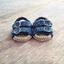 Crochet baby sandals pattern. Birkenstock style baby sandal.