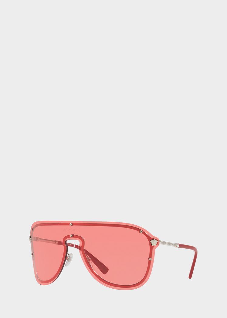 3a2b64eadc6 Versace Red  Frenergy Visor Sunglasses for Men