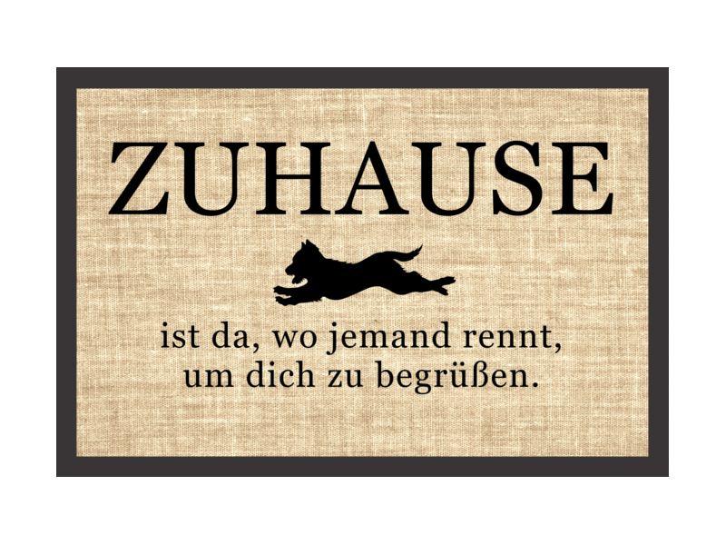 Fußmatte Spruch ZUHAUSE IST DA WO JEMAND RENNT Von Interluxe Via Dawanda.com
