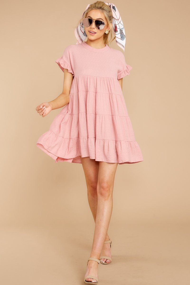 light pink casual dress