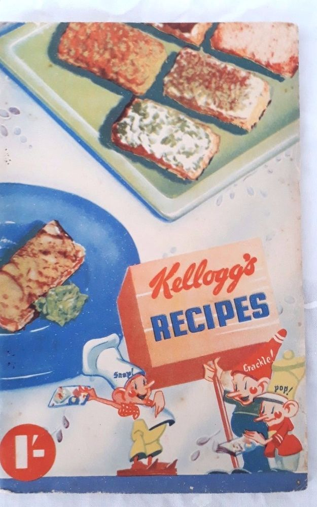 kellogg s recipes book circa late 1930s snap crackle pop australian