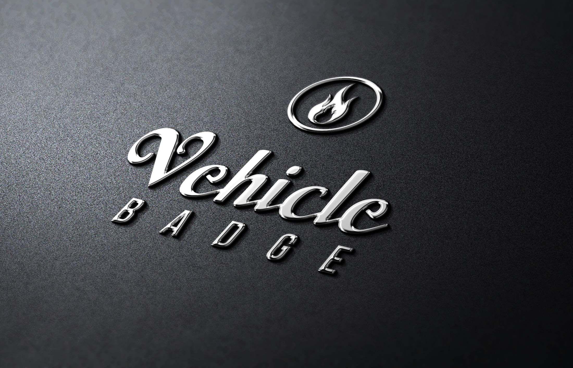Photorealistic Logo Mockup Pack Metallic Badge Logo