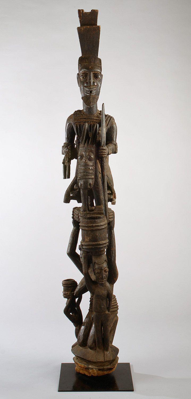 Veranda Post Equestrian Figure and Female Caryatid for