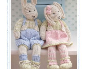 Knitting Pattern Rabbit Hat : Doll knitting pattern deal tearoom dolls and hats toy