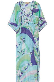 Printed cotton and silk kaftan Emilio Pucci Outlet Order Online wLEg1