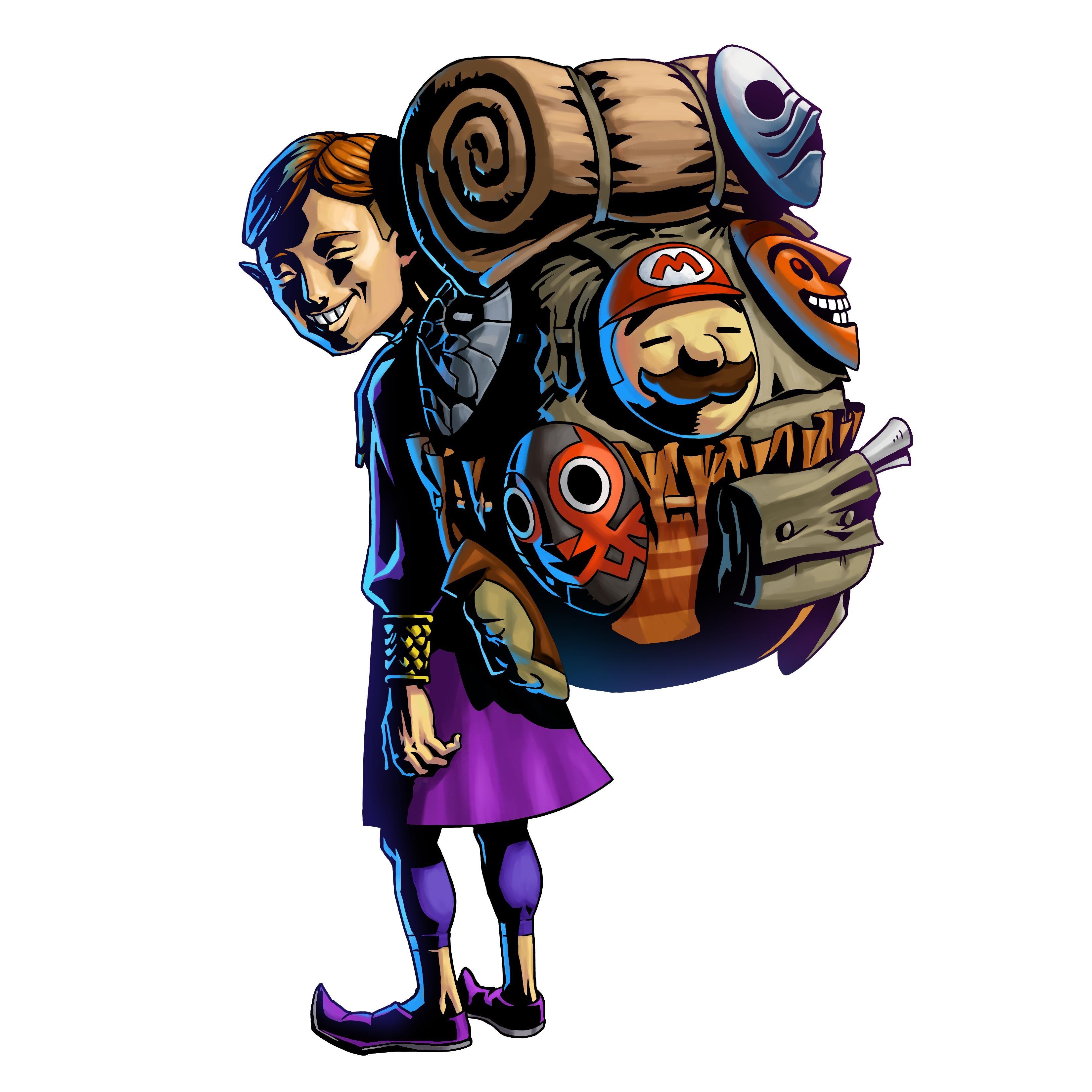 Legend of Zelda: Majora's Mask 3D - Artwork - Happy Mask Salesman ...