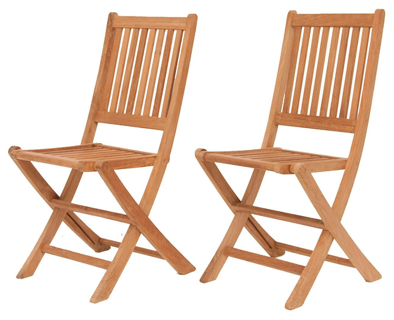 Fantastic Teak Folding Chairs With Vertical Slats Set Of 2 Brown Andrewgaddart Wooden Chair Designs For Living Room Andrewgaddartcom