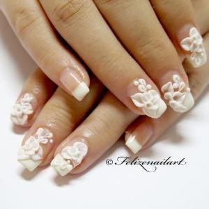 Simple Wedding Nail Art