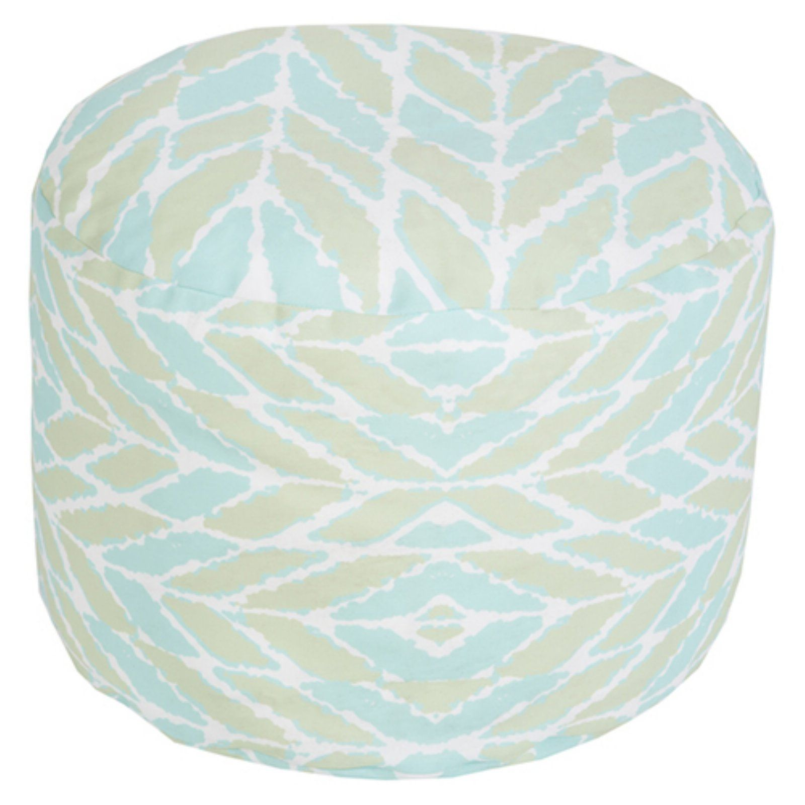 Pouf Mint Surya 20 X 20 In Outdoor Geometric Round Pouf Mint