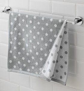 reversible polka dot towel set grey and white marks and spencer home living polka dot. Black Bedroom Furniture Sets. Home Design Ideas