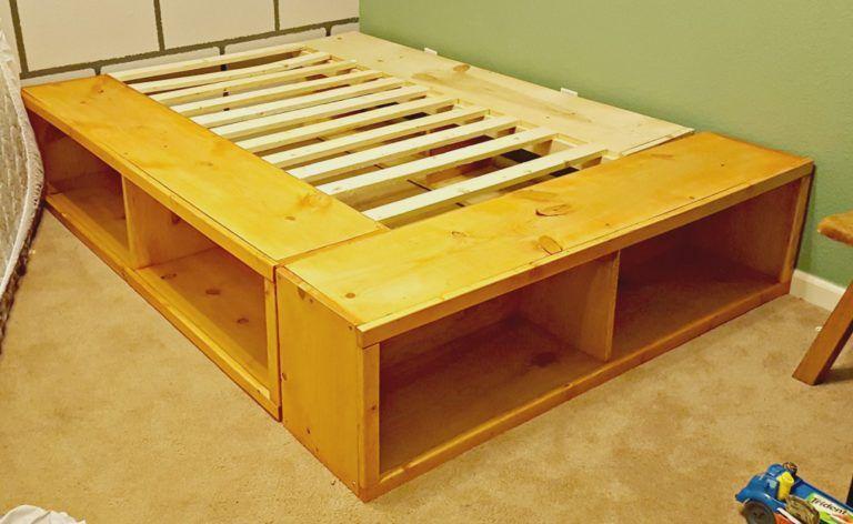 Diy Full Size Bed Frame With Storage Diy Full Size Bed Frame