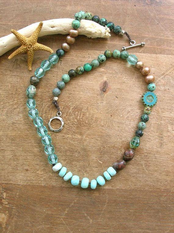4b5fe217b Bohemian necklace - Waterfall - boho chic jewelry