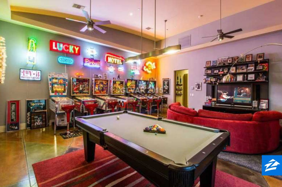 Get ready to lose track of time in this game room from - Home game room ideas ...