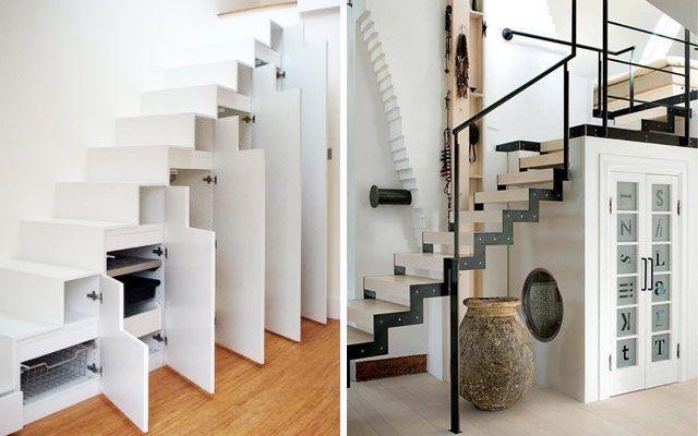 Aprovechar espacios bajo escalera armarios cajones for Armarios para escaleras