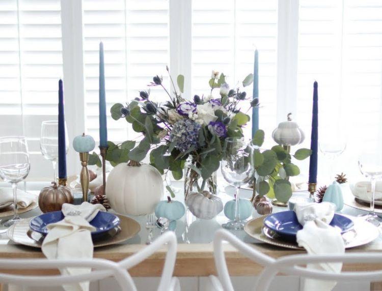 Herbstdeko in Lila Festliche Tafeln im Glamour-Look Deko Trends - Wohnzimmer Modern Lila