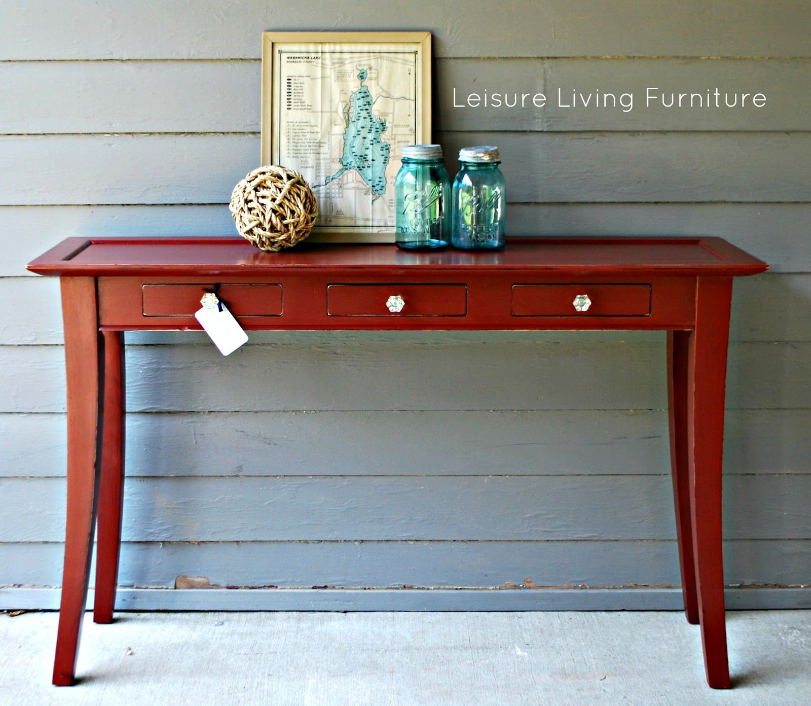 Primer Red Sofa Table Sofa Table Red Sofa Painted Table