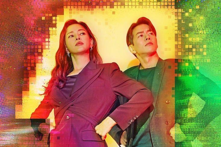 """Honey Lee And Lee Sang Yoon Strike An Unconventional Superhero Pose In Poster For """"One The Woman"""""""
