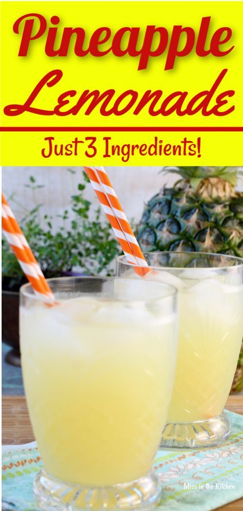Pineapple Lemonade is an easy and delicious drink for any time of year. A fun twist on classic lemonade for all of your parties, baby showers, holidays and fun get togethers. The perfect party punch for kids and adults! #partydrinks #lemonade #lemonadepunch