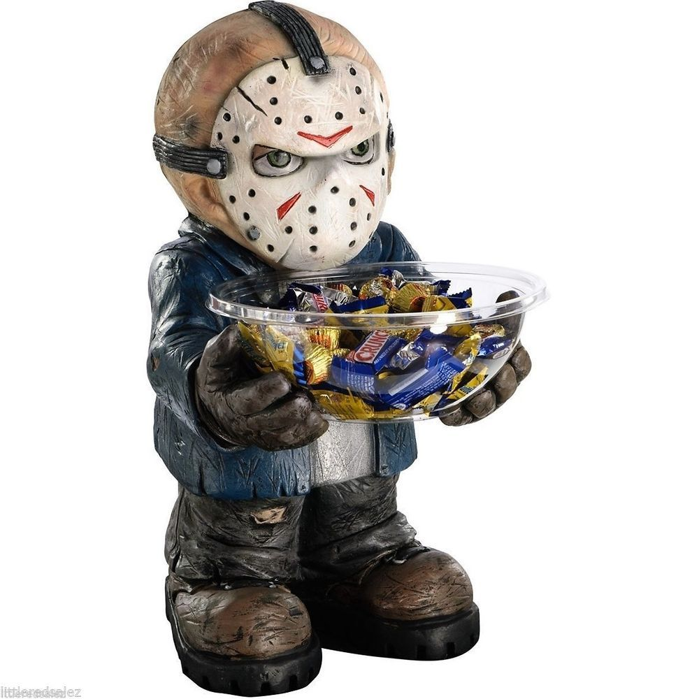 Jason Voorhees Candy Dish Collectible Treat Bowl Halloween Decor Mask Friday 13 #FridayThe13th