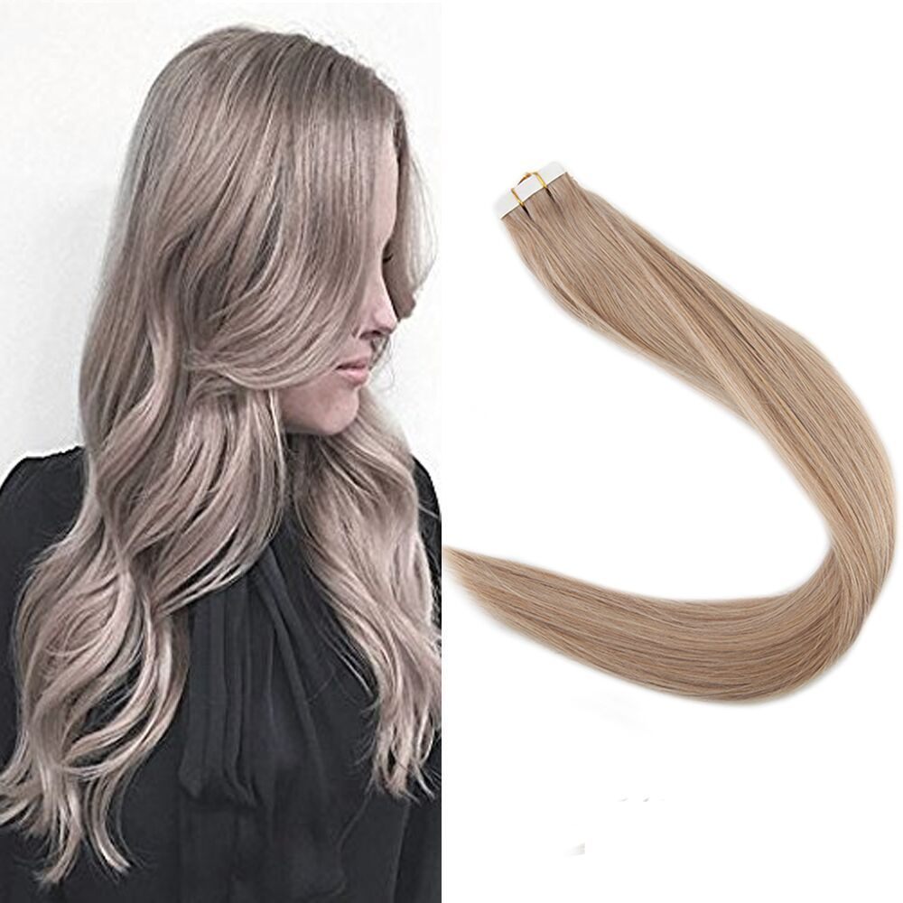 Caramel Blonde 18 Tape In Premium Remy Human Hair Extensions