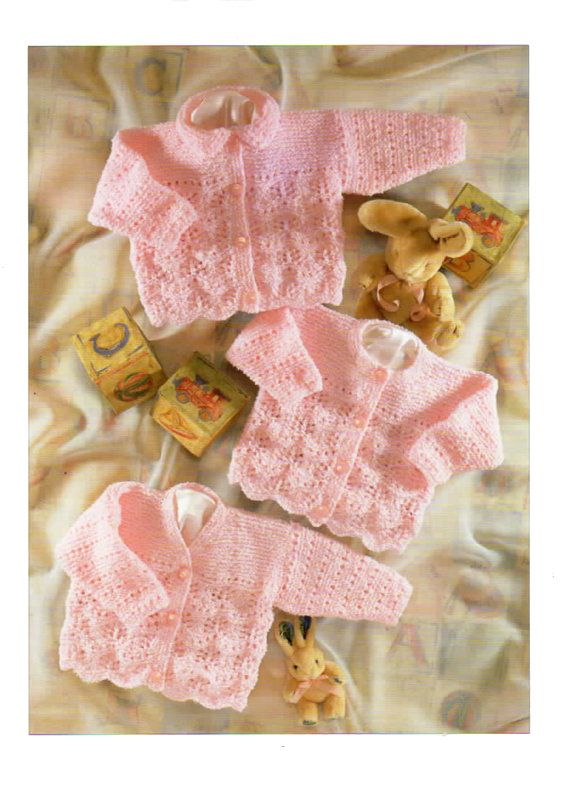 777c35fd444a baby   childrens cardigans dk knitting pattern 99p pdf