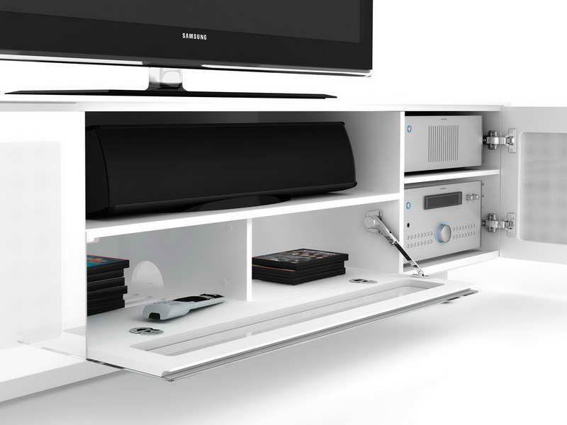 White Media Cabinet Modern Fortikur