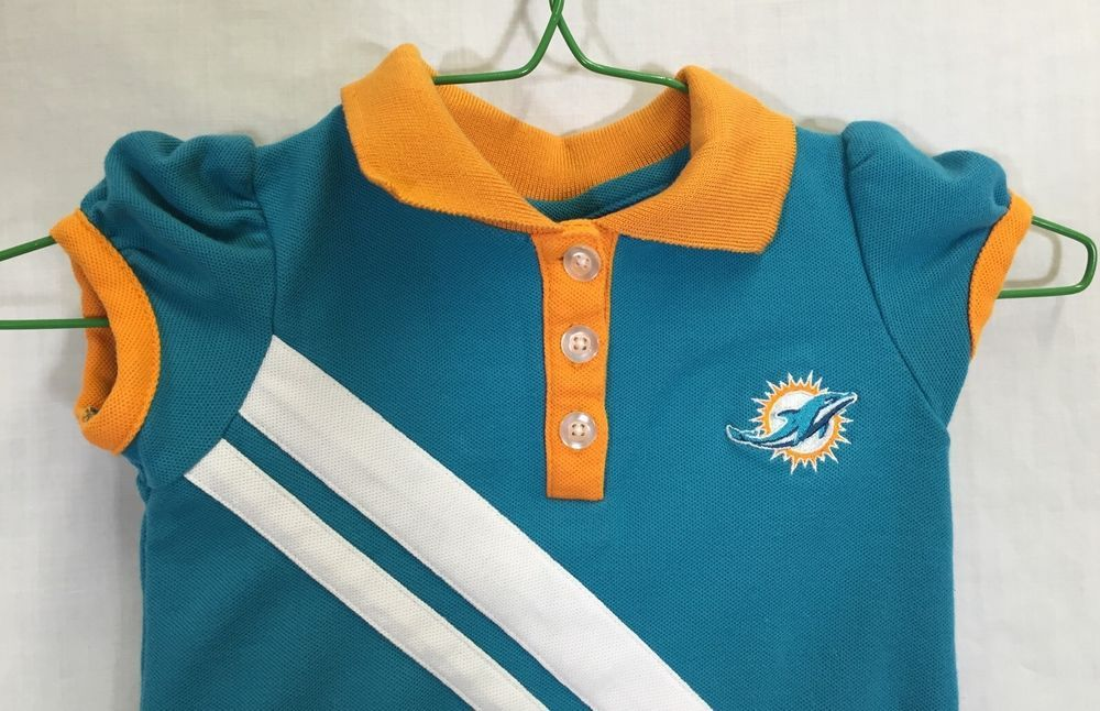 04340b72 Miami Dolphins 4T Dress NFL Kids Team Apparel Girl Polo Cheerleader ...