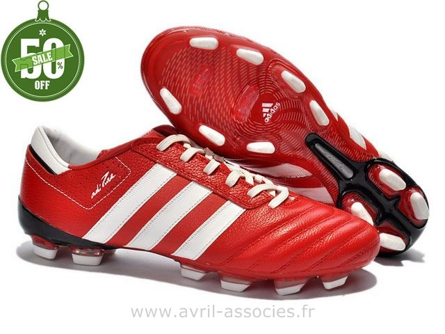 Boutique Chaussures de foot adidas adipure III TRX FG Rouge