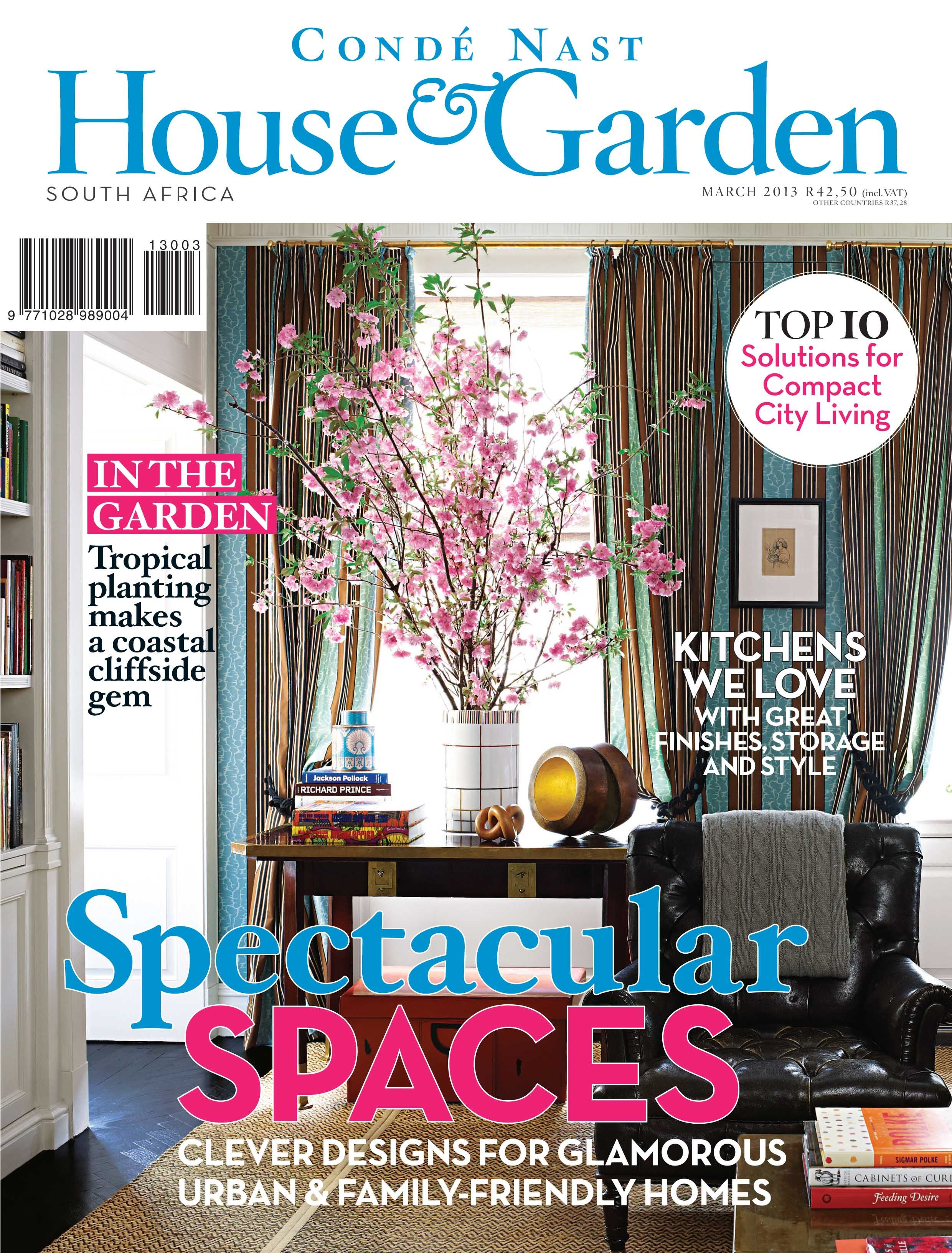 Cond Nast House Garden magazine South Africa March 2013 House