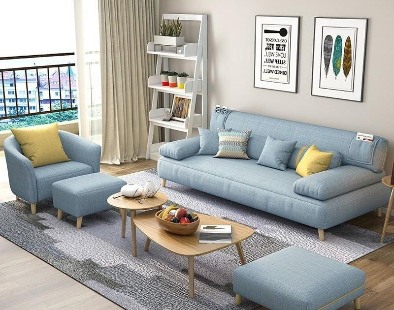 Wooden Moon Nordic Fabric Sofa Small Apartment Solid Wood Sofa Bed Simple Modern Living Room Furniture Triple Mult In 2020 Sofa Bed For Kids Sofa Bed Design Wood Sofa