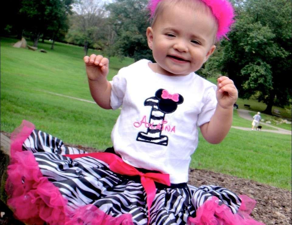 Minnie Mouse and Zebra Print Birthday Alainas Zebra Pink
