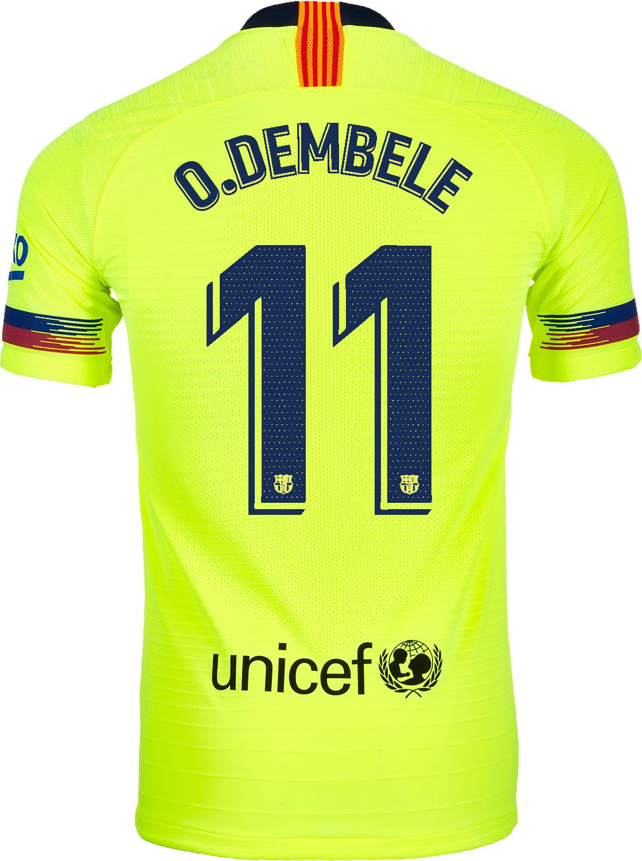 584ef9019b4 2018 19 Nike Ousmane Dembele Barcelona Away Match Jersey