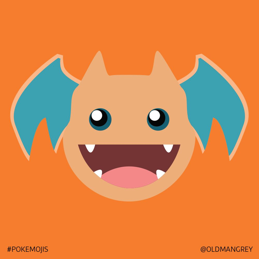 6 Pokemoji Charizard Pokemon Love This Guy Instagram Com Oldmangrey Pokemon Chibi Pikachu