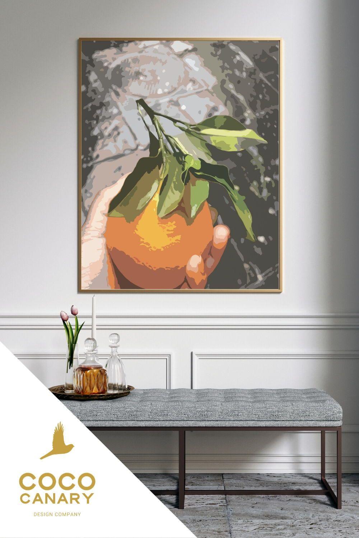 Freshly Picked Orange Digital Art Print Printable Wall Art Etsy In 2020 Coastal Art Prints Printable Wall Art Etsy Printable Wall Art