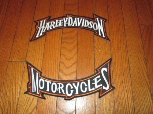 ORANGELarge-Harley-Rocker-Patch-Set-New-11x5-inch-s-Stitched-set-Embroidered