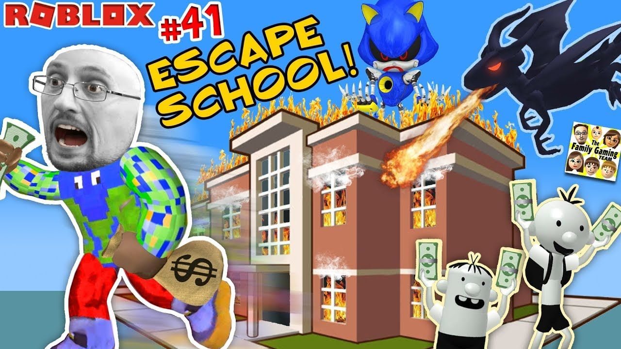 Escape School With Dragon Get Rich Roblox 41 Fgteev Roblox