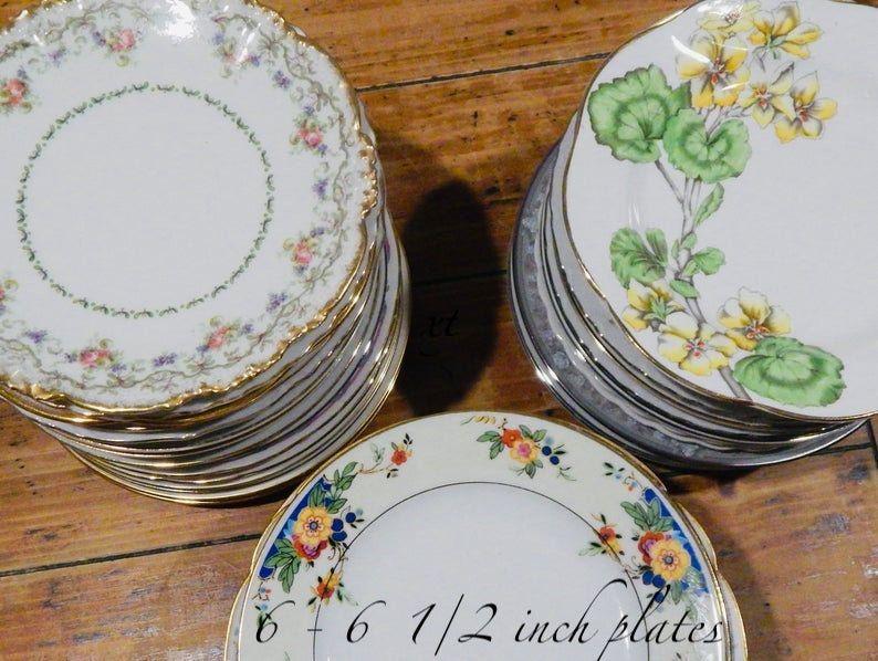 Mismatched China Dessert Plates Vintage Bulk China Plates 9 50