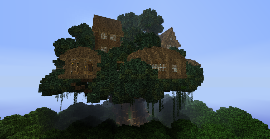 Biggest treehouse in minecraft design decor 37946 for Epic house designs