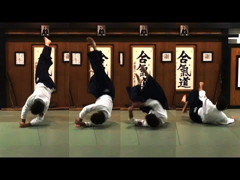 Aikido How To Solo Soft High Fall Youtube Video Action Scenes