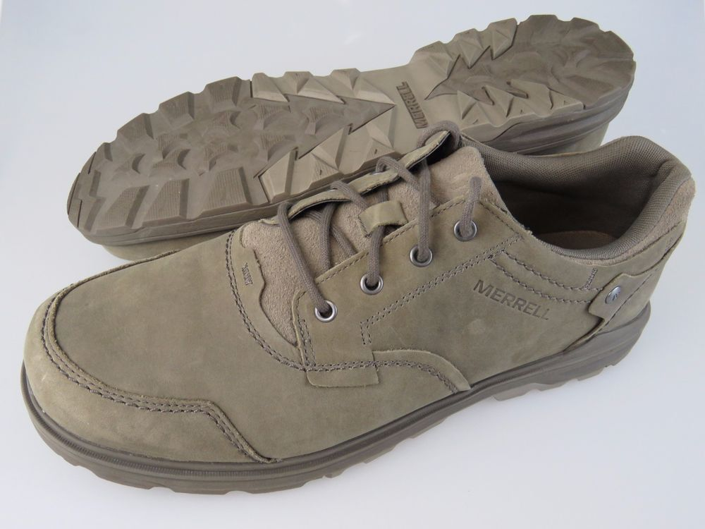 a5c5af8ba8 MERRELL Brevard Brindle Leather Lace Up Casual Shoes Men's US Size ...