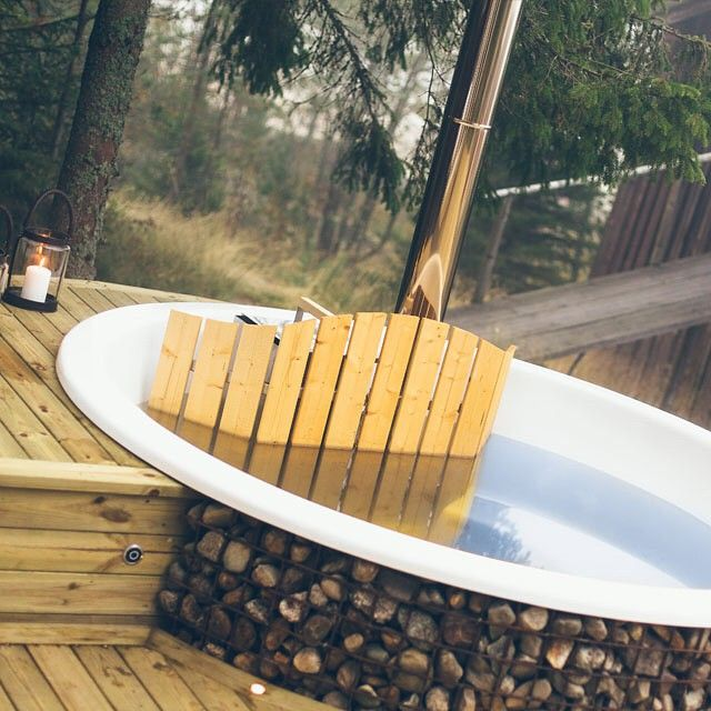 Bra Bygg in en badtunna i er altan och skapa ett mysigt hemmaspa. För AU-11