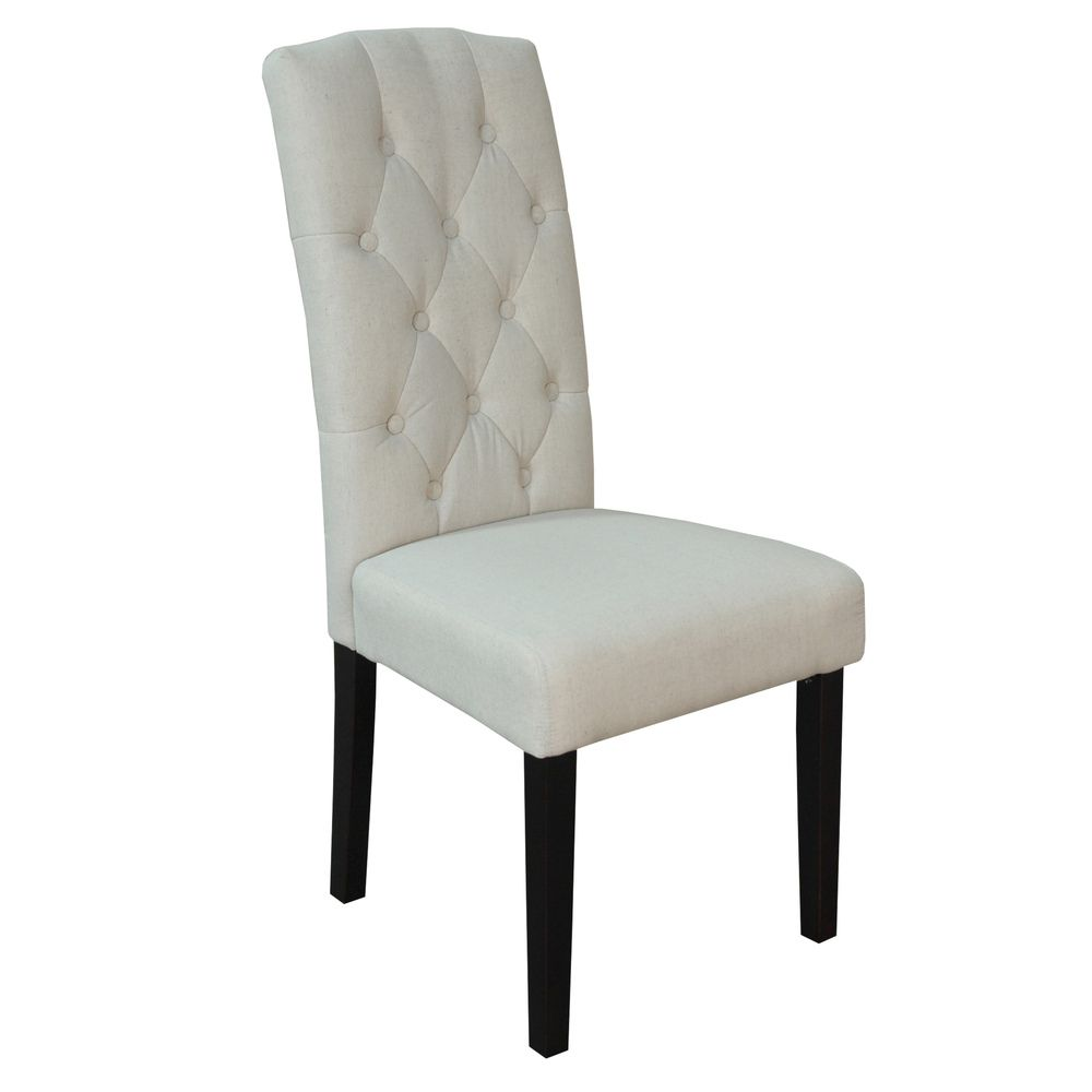 Bon Princeton Upholstered Linen Dining Chairs (Set Of 2)   Overstock.com
