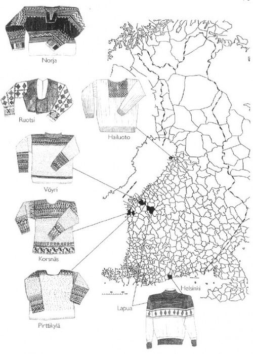 Five renowned Finnish knitted sweaters and their origins