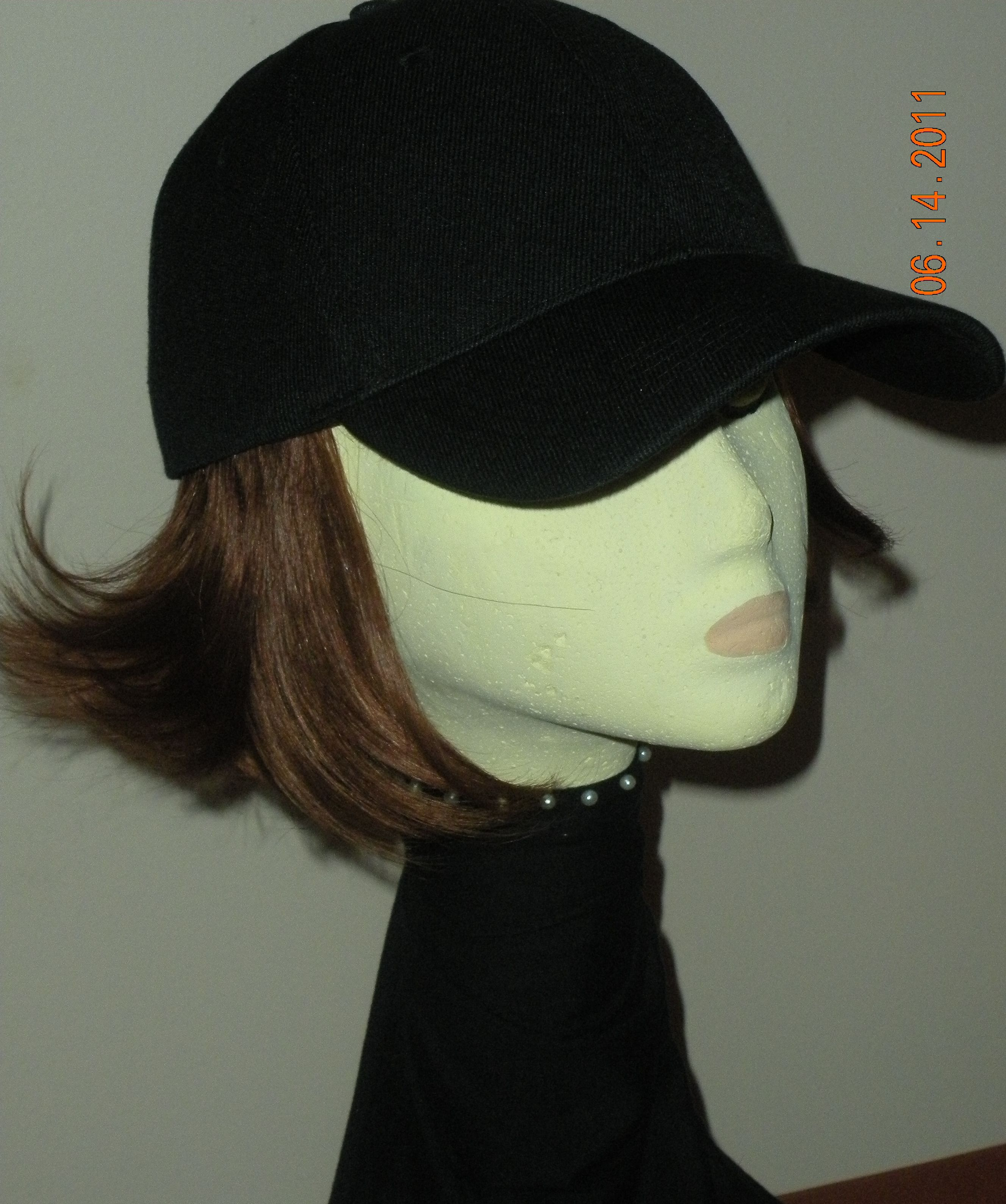 Hats With Hair Attached I Need This For A Rainy Day